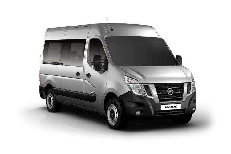 Nissan NV400 Minibus L2 35 M1 FWD 2.3 dCi FWD 170PS SE Combi Medium Roof Manual [Start Stop] [6Seat] front view
