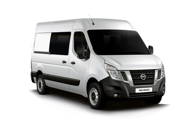 Nissan NV400 L2 35 FWD 2.3 dCi FWD 150PS Acenta Crew Van Medium Roof Manual [Start Stop] front view