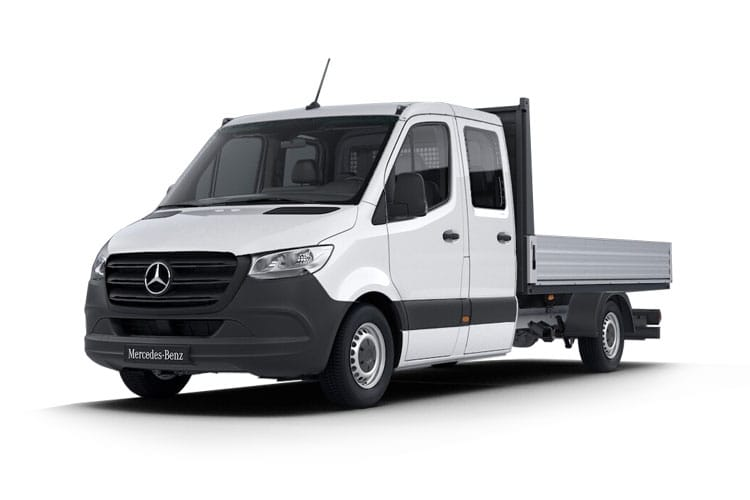 Mercedes-Benz Sprinter HGV 519 L3 5.0t 3.0 CDi V6 DRW 190PS  Dropside Double Cab Manual [Start Stop] front view